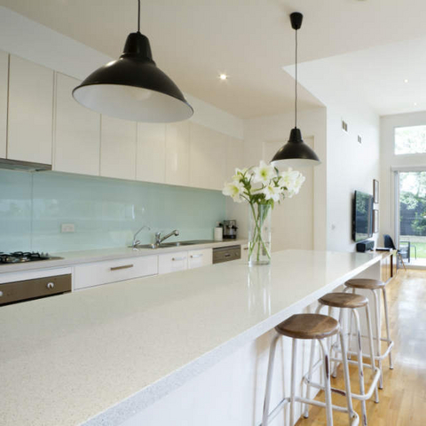Kitchen Tiles Or Splashback creating a kitchen feature wall or splashback with glass tiles