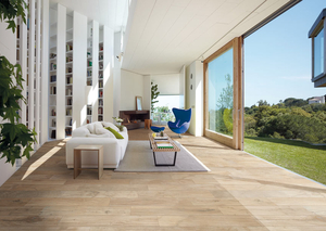 Warm and naturally stylish, porcelain wood